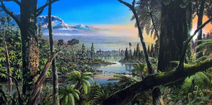 So könnte der Antarktis-Wald vor 90 Millionen Jahren ausgesehen haben.  (Grafik: